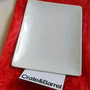 Crate & Barrel Snowflake Serving Plate